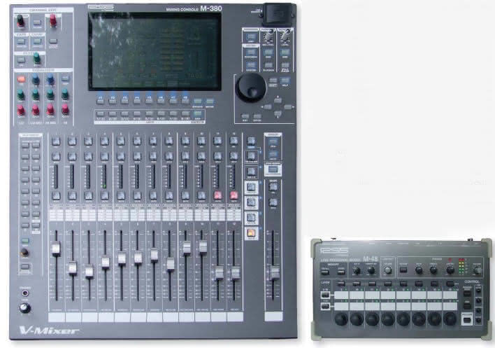 M-380 i M-48 RSS by Roland - V-Mixer i Live Personal Mixer